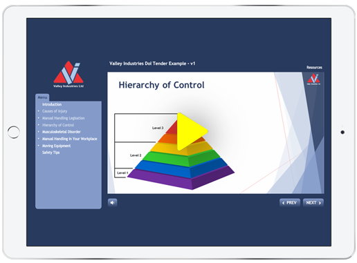 Valley Industries Setup Learning Management System, course development