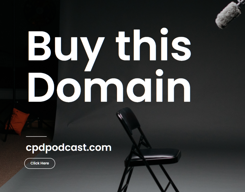 Buy this domian -cpdpodcast.com